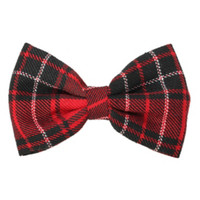 LOVEsick Red Plaid Hair Bow