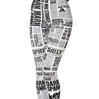 Selling digital printing white letters of the alphabet tight sexy leggings (Color: White) = 1932748676