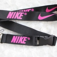 Nike Lanyard Key Chain ID Strap BLACK AND NEON HOT PINK  ELITE ☆ SALE