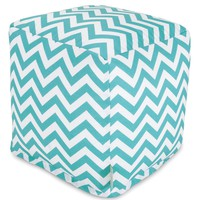 Teal Chevron Small Cube