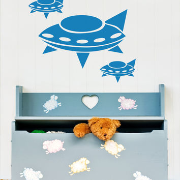 Vinyl Wall Decal Sticker Alien Spaceships #OS_AA172