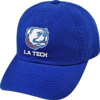Top of the World Men's Louisiana Tech Bulldogs Blue Crew Adjustable Hat | DICK'S Sporting Goods