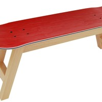 Skate stool Nollie Flip, natural red color - Skate-Home | Skateboard Furniture & Design