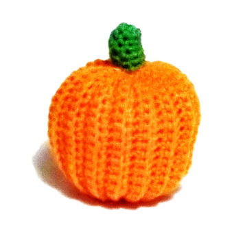 Pumpkin Crochet Decoration or Cat toy