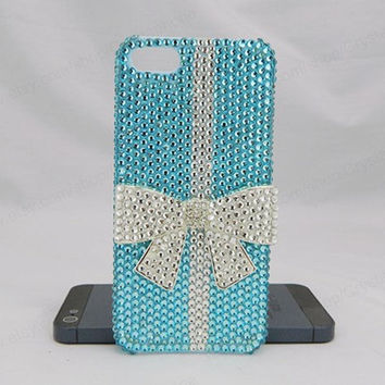 Bling bow case  iPhone case,bling iphone 6 case,Crystal iphone 6 Plus,Rhinestone iphone 5/5S/5c,iphone 4 case samsung galaxy S3/S4/S5