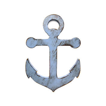 Anchor (Pictured In Sky) Nautical Wall Sign Nursery Decor Wooden Sign Wooden Wall Art Cottage Chic Shabby Chic Rustic Americana