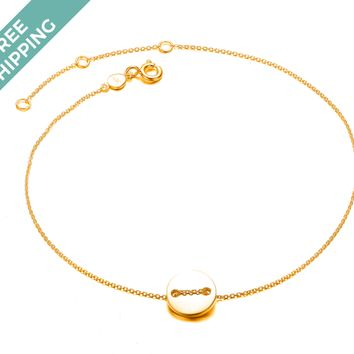 kiz&Co. Gold Plated Sterling Silver Button Bracelet