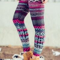 Winter Aztec Fleece Legging