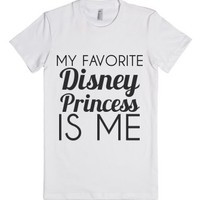 Favorite Princess-Female White T-Shirt