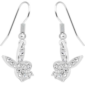 Playboy Bunny Rhinestone Earrings