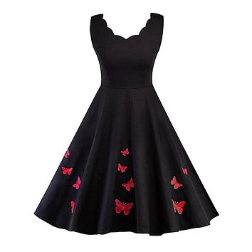 Elegant Sleeveless Butterfly Party Dresses