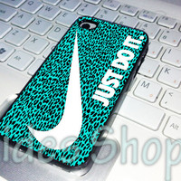 leopard pattern tiffany nike just do it case iphone 4 case, iphone 5 case, iphone 5s case, iphone 5c case, samsung galaxy case, ipod case