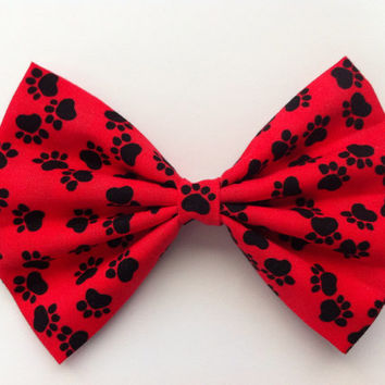 Paw Prints Hair Bow