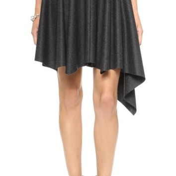 Dagmar Ally Flannel Asymmetrical Skirt