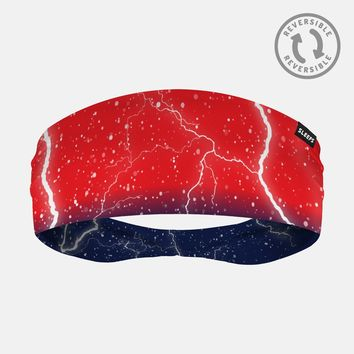 Lightning Red Navy Headband