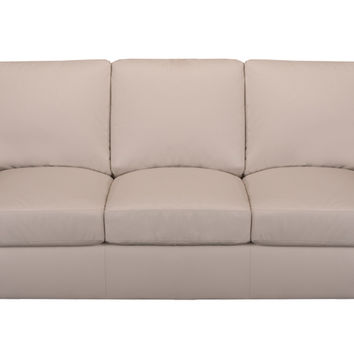 Member Leather Sleeper Sofa Queen Bed with Pocket-Coils