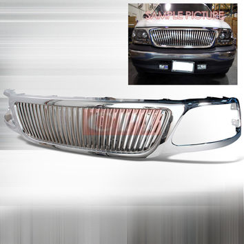 Ford 1999-2002 Ford F150 1P Chrome Grille Vertical Performance-p