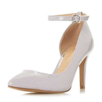 *Head Over Heels by Dune Grey 'Clarra' High Heeled Court Shoes | Dorothyperkins