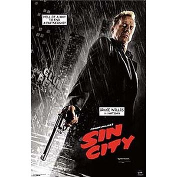 Sin City (Bruce Willis is Hartigan) Movie Poster Print