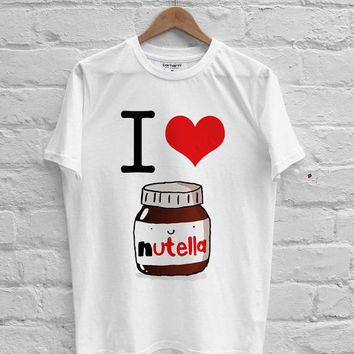 I Heart Nutella T-shirt Men, Women Youth and Toddler