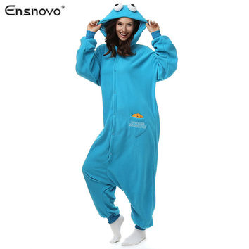 Ensnovo Onesuits Pajamas For Women Winter Sloth Hooded Sleepwear Cartoon Full Body Cute Animal Pajamas Unisex Cosplay Costume