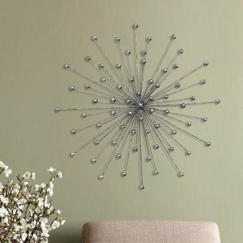 Stratton Home Decor Metallic Burst Wall Decor (Yellow)