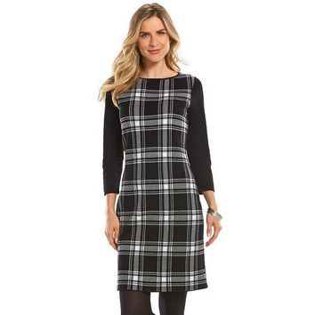 LMF7GX Chaps Plaid Sweaterdress - Women's Size