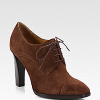 Ralph Lauren Collection - Narcissa Suede Lace-Up Ankle Boots - Saks Fifth Avenue Mobile