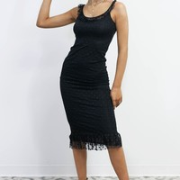 AMUSE SOCIETY Black Dahlia Dress