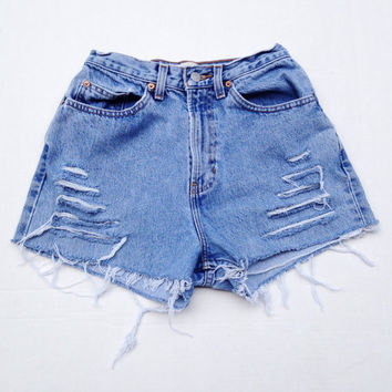 Super High Waisted Denim Shorts Vintage Gap Jean Shorts Size 3/4