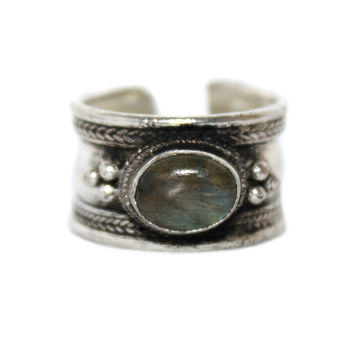 Labradorite Adjustable healing ring