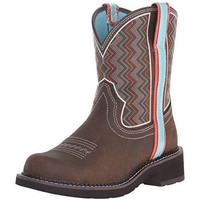Ariat Women's Fatbaby Heritage Ziggy Western Cowboy Boot, Toasted Brown, 6 B US