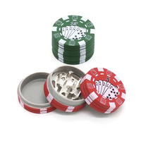 3 Layers Poker Chip Style Herb Herbal Tobacco Grinder Weed Grinders