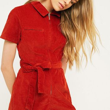 UO Hello Sunshine Corduroy Playsuit | Urban Outfitters