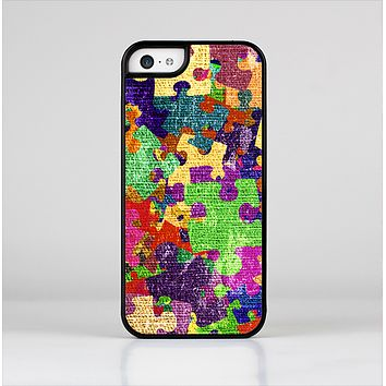 The Neon Colored Puzzle Pieces Skin-Sert Case for the Apple iPhone 5c
