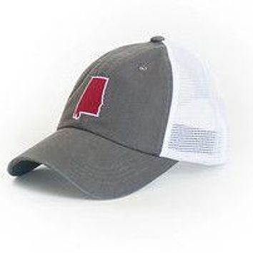 Alabama Tuscaloosa Gameday Trucker Hat in Grey by State Traditions