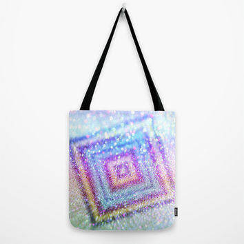 diamond glitter Tote Bag by Haroulita
