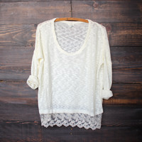 knit sweater weather | cream
