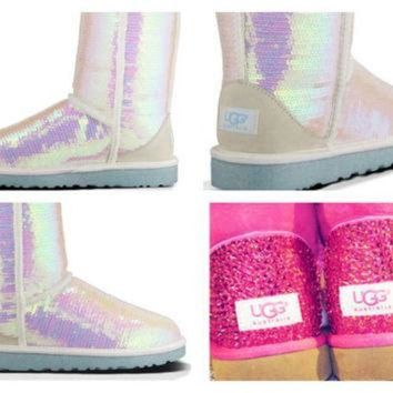CREY1O Custom UGG Boots made with Swarovski Sparkle I Do Free: Shipping, Repair Kit, Cleaning