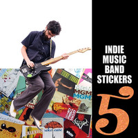 Indie Band Music Stickers, Fleet Foxes, Florence The Machine, Grizzly Bear, MGMT, Beirut, Vampire Weekend, Neko Case, White Stripes