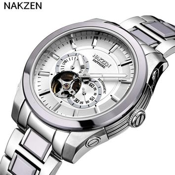 Men's Stainless Steel Automatic Mechanical Luminous Sapphire Luxury Diver's Watch