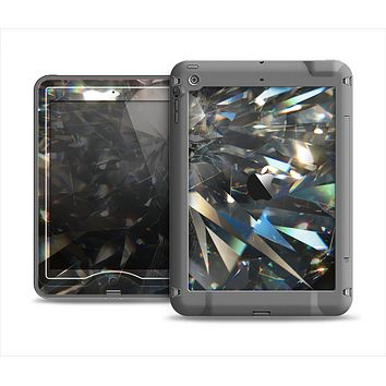 The Abstract Shattered Crystal Pattern Apple iPad Mini LifeProof Nuud Case Skin Set