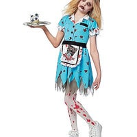 Kids Deadly Diner Zombie Costume - Spirithalloween.com