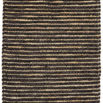 Valencia Wool and Jute Area Rug in Black Pepper design by Classic Home