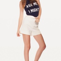 DOUBLE DARE HEY SAILOR! HALTER TANK at Wildfox Couture in  HEY SAILOR!, - CLEAN BLACK