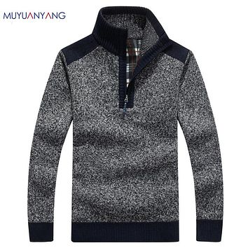 Mens Sweater All Sizes NEW Men's Mock Midweight workwear All Sizes zip