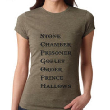 Harry Potter Inspired Clothing - Stone Chamber Prisoner Goblet Order Prince Hallows Crew Neck - Ladies
