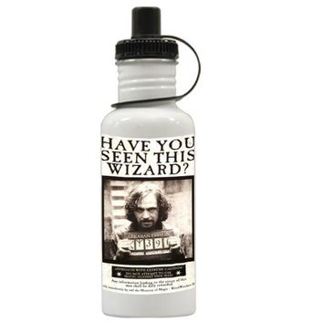 Gift Water Bottles | Harry Potter Wanted Poster Sirius Black Aluminum Water Bottles