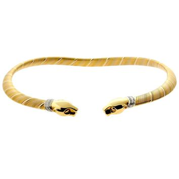 Cartier Panthere Diamond Gold Choker Necklace