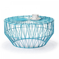 Accent Round Starburst Coffee Tables - Iron - Sky Blue